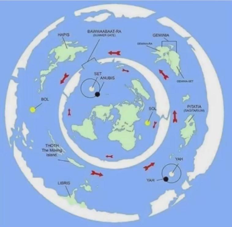Mi van a lapos föld szélein az Anktartiszon túl térkép