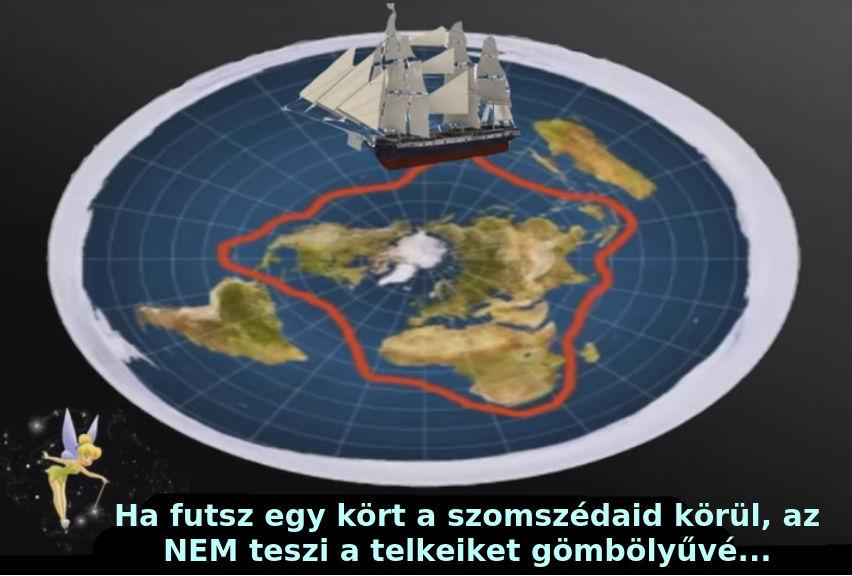 a lapos Föld körbehajózása körbeutazása megkerülése útvonal térkép